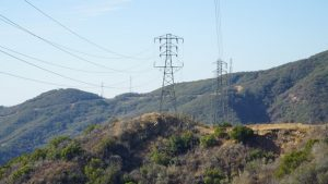 power lines in an undeveloped area near the San Marcos Pass