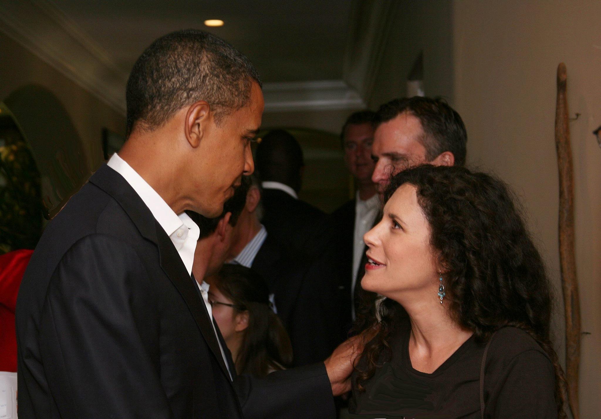 Susan with Barack Obama